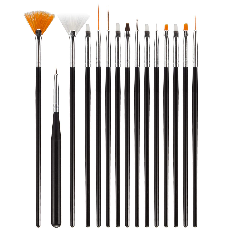 Boobeen 15 Pieces Nail Art Design Painting Drawing Polish Brush Pen Tools : Beauty