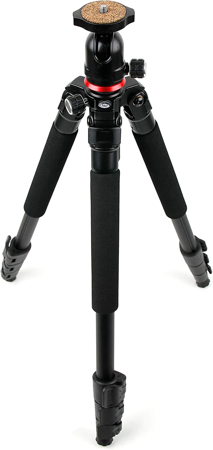 DURAGADGET Professional Sturdy Tripod w// 3D Ball Head Compatible with DVR 2GP 603FHD