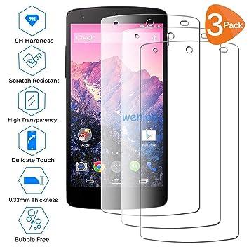Wenlon [3 Unidades Adecuado para LG Nexus 5, Pantalla HD de ...