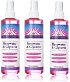 Heritage Store Rosewater & Glycerin FRqLnm, 3Pack (8 oz bottle)
