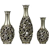 StealStreet SS-DD-SV15 Lucrezia Collection Three Vase Set Centerpiece