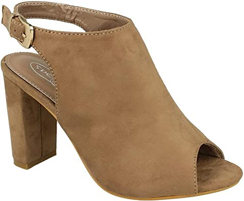 Ladies Spot On High Heel Peep Toe Sandals
