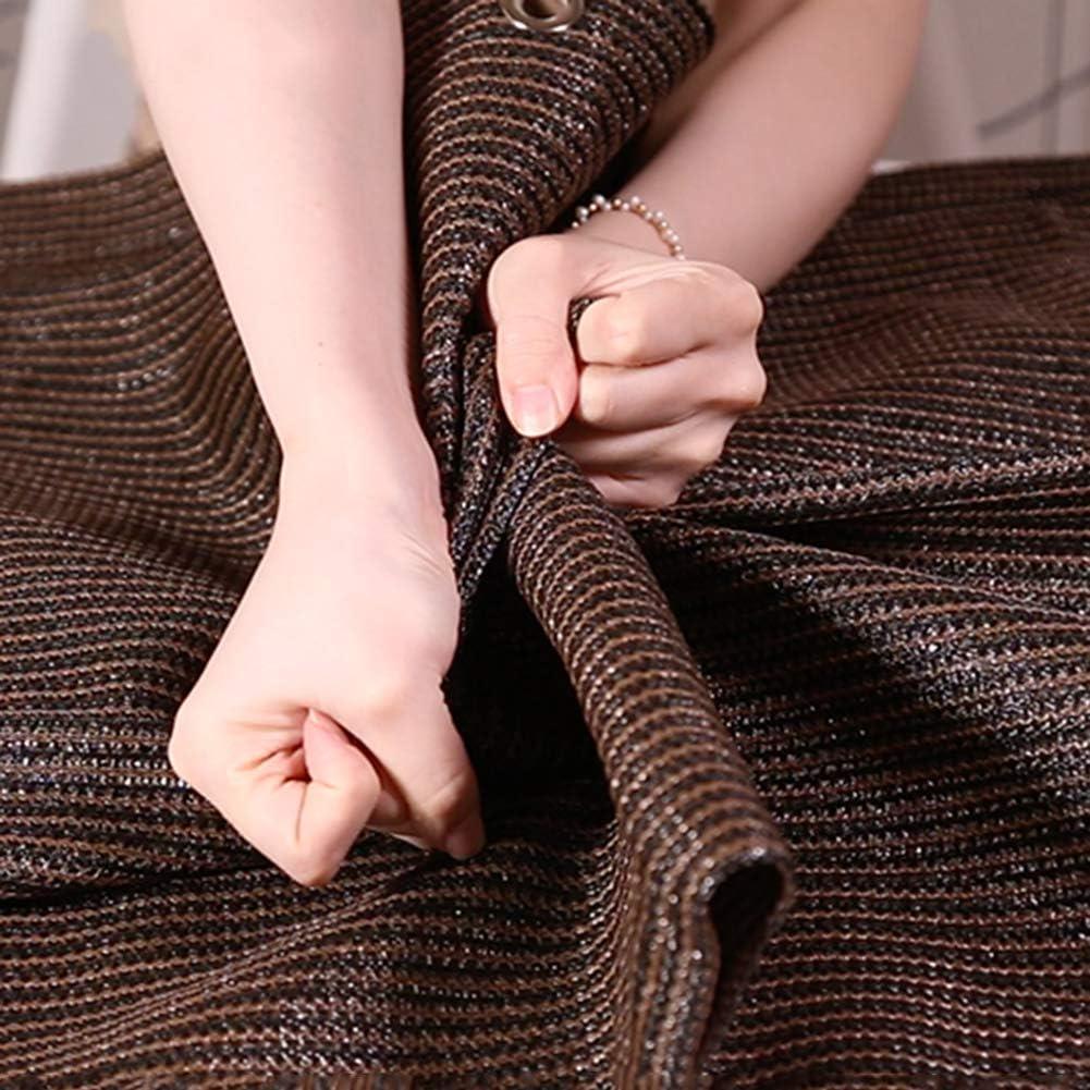 12 Punti Rete Ombreggiante Materiale Addensato Panno Ombra Ombreggiamento 90% Anti età Ombra del Cortile Impermeabile Traspirante con Foro per La Corda(Color:2x4m) 1x1.5m