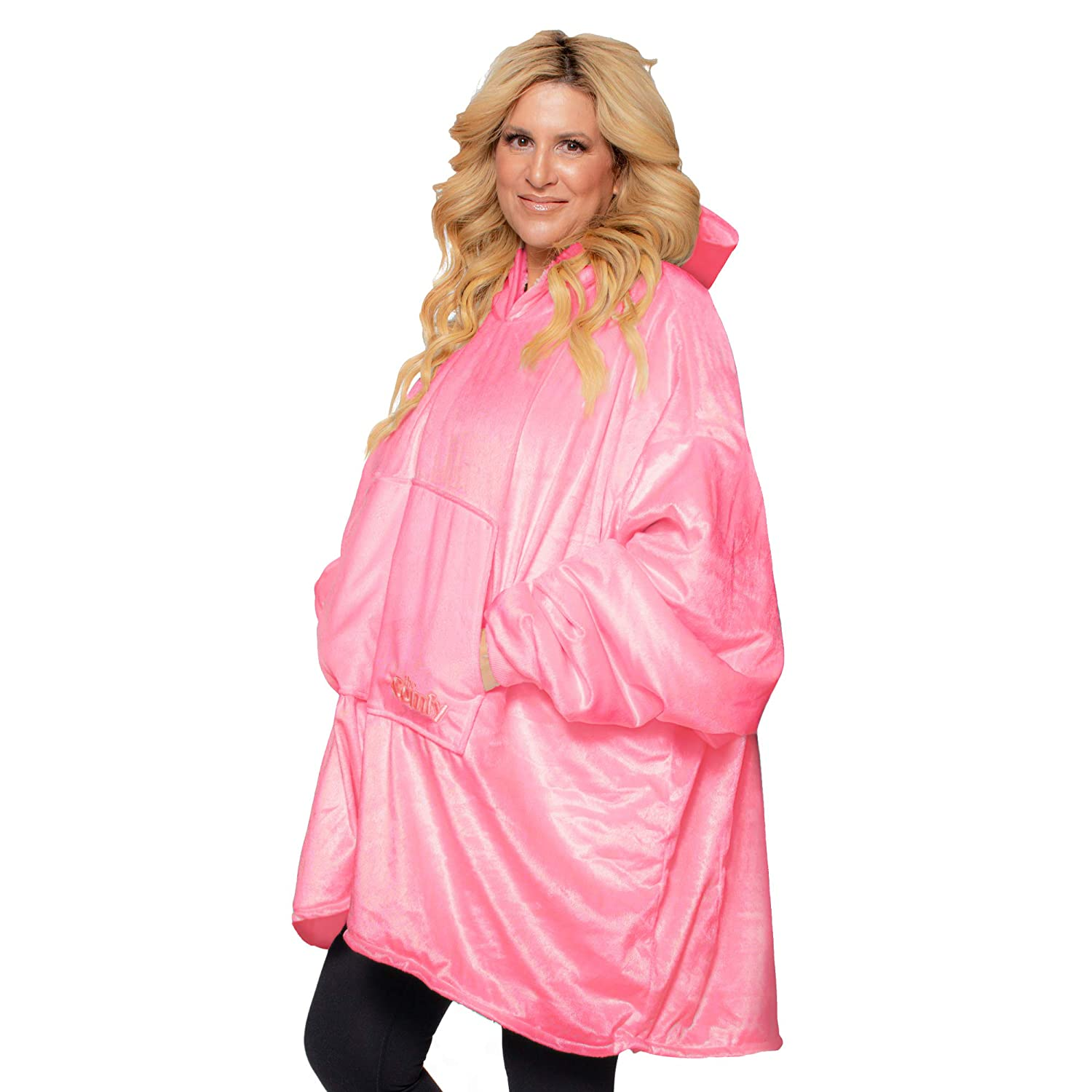 THE COMFY: Original Blanket Sweatshirt, Seen on Shark Tank, Invented by 2 Brothers, Warm, Soft, Cozy, Multiple Colors, 1 Size Fits All, Women, Wife, Girls, Friends Pink