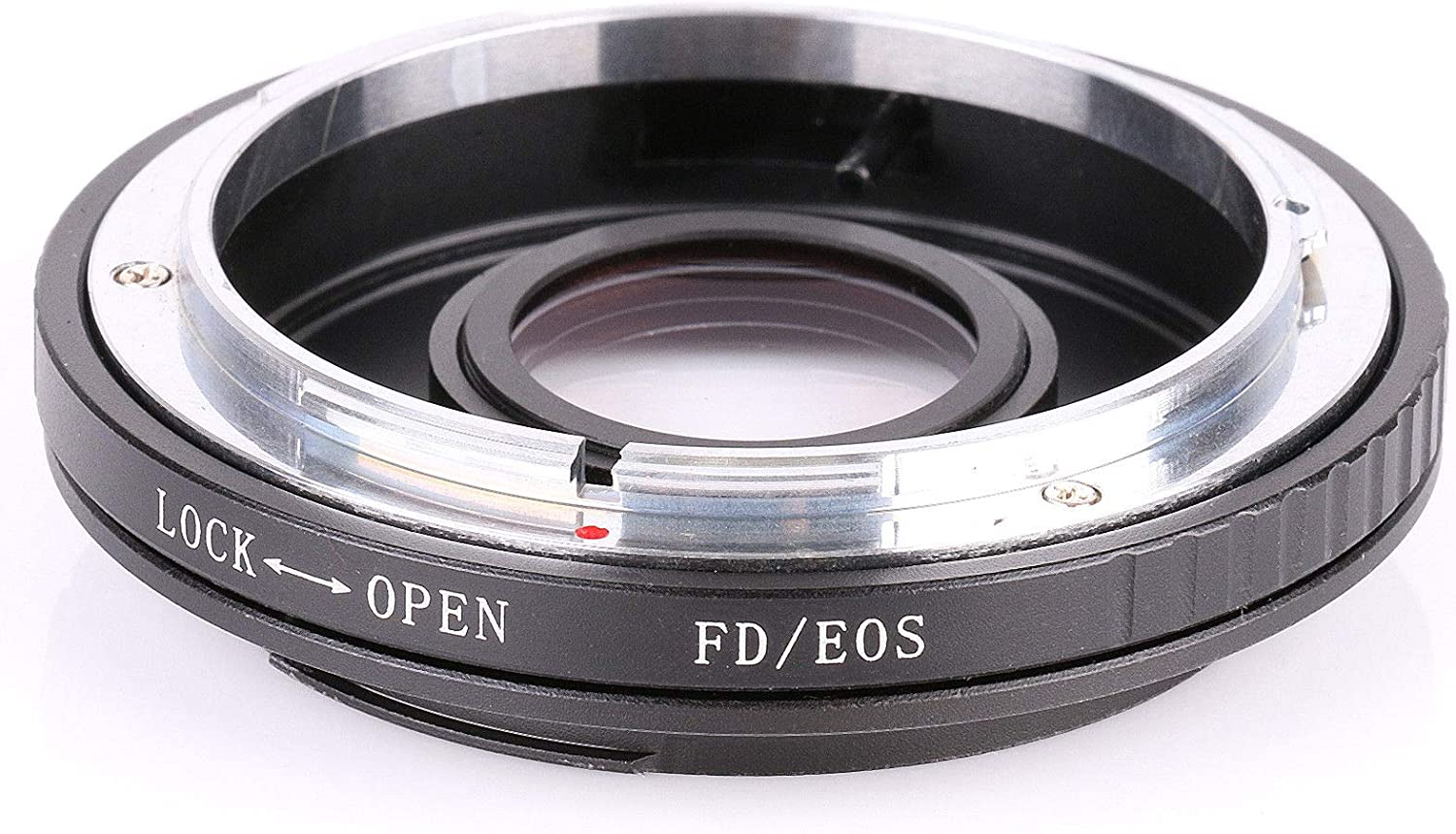 RONSHIN Camera Accessory-FD-EOS Mount Adapter for Canon FD Lens to Canon EOS EF Glass Focus Infinity