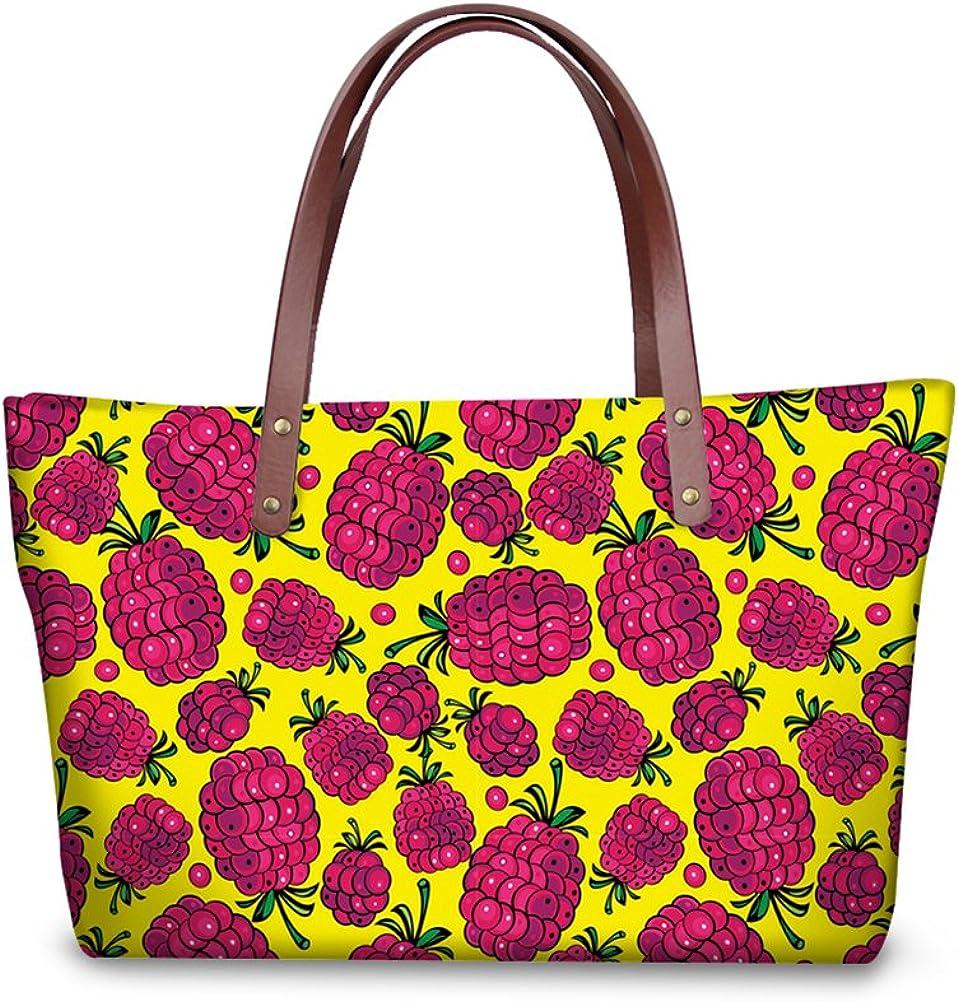 Mumeson Trendy Fruit Printed Women Shoulder Bag Handbag Tote Satchel Purse Soft Neoprene