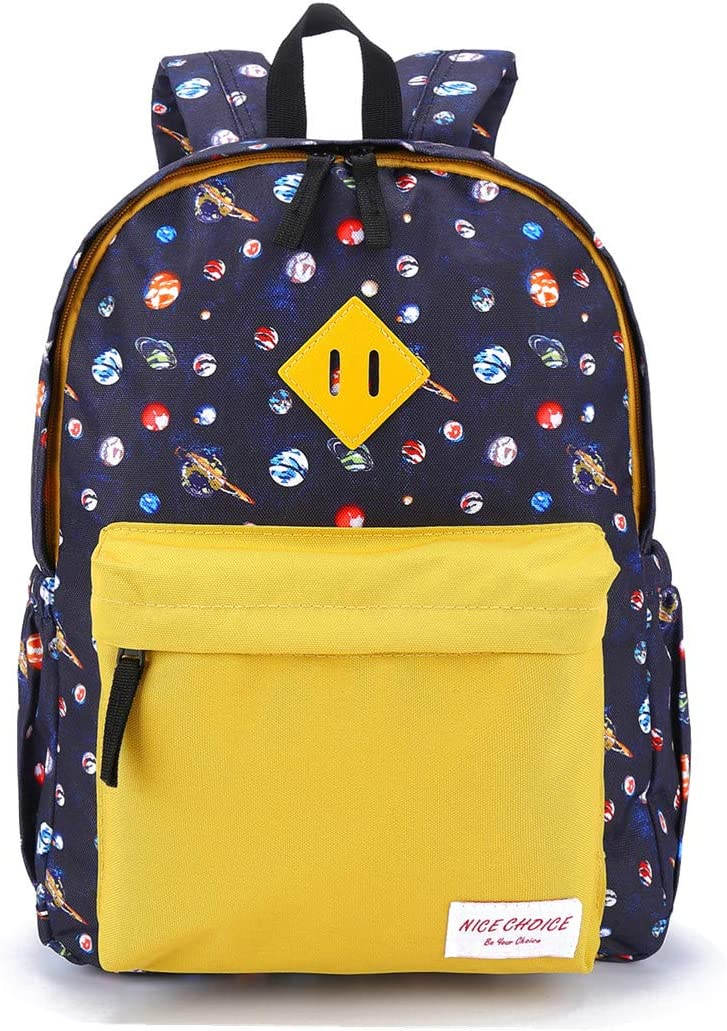 Preschool Backpack Kindergarten Little Kid Toddler School Backpacks for Boys and Girls with Chest Strap, Space