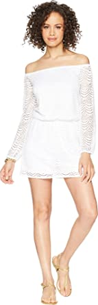 5ed95232c400 Lilly Pulitzer Women s Lana Skort Romper Resort White Scalloped Shell Lace  X-Small