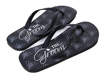 6ff7350c0358c Image Unavailable. Image not available for. Color  Forum Novelties Groom  Flip Flops