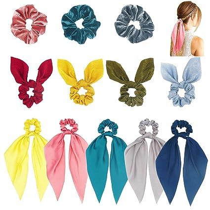 Amazon.com: Funlovin - 12 unidades de pañuelos de seda para ...