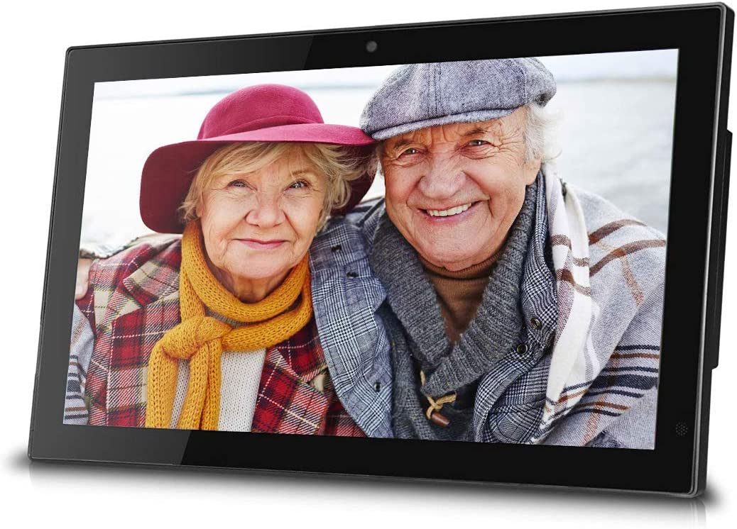 Sungale HD Display for Photos//Videos//Music Entertainment- Stay Connected with Family 20GB Cloud Storage Digital Cloud Frame- Video Chat Built-in Share Photos Online or with iOS//Android APP