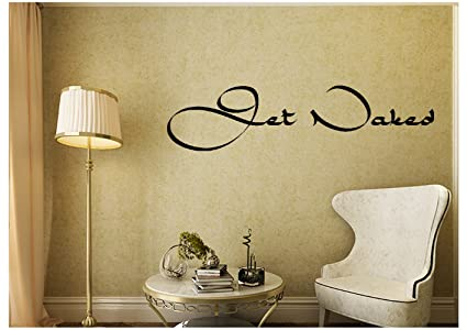 Amazon.com: 28 Get Naked Spa Bathroom Relax Wall Decal Sticker Art ...