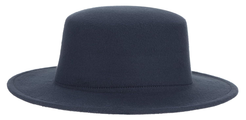 Brcus Adult Women Men Flat Top Hat Fedora Hats Trilby Caps Panama Hat Jazz Cap