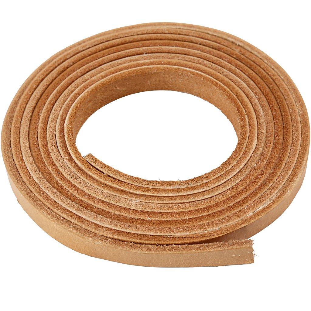 Correa de piel, ancho: 10 mm, grosor: 3 mm, natural, 2 m