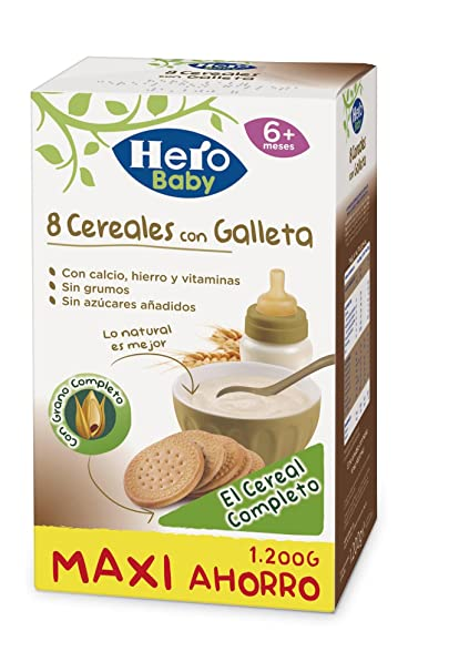 Hero Babynatur - Cereales Con Galleta Maria 1200 g