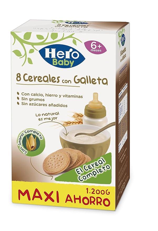 Hero Babynatur - Cereales Con Galleta Maria 1200 g: Amazon.es: Amazon Pantry