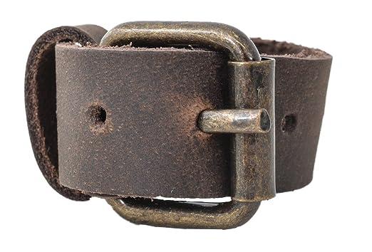 2 Leder-Riemen dunkelbraun Leder 2,0 x 24,0 cm Befestigungsriemen Lederriemen