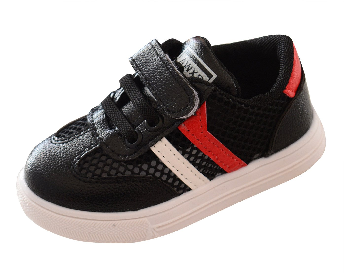 Happy Cherry Sport Shoes Casual Cute Sneakers Soft Crib Shoes for Baby Kids Children for Summer Autumn Black 7.5 M