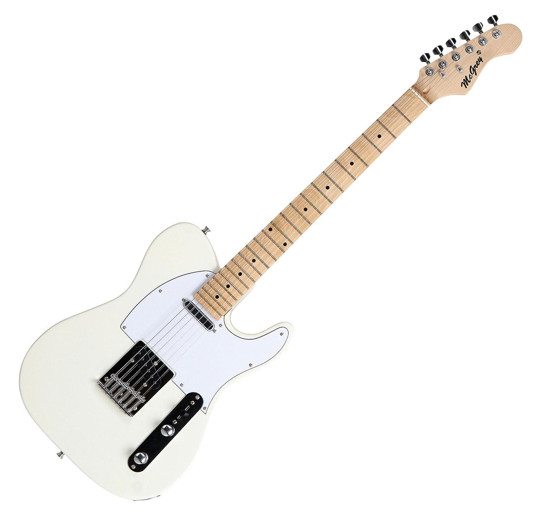 Set completo de guitarra eléctrica McGrey Rockit tipo TL en blanco vintage: Amazon.es: Instrumentos musicales