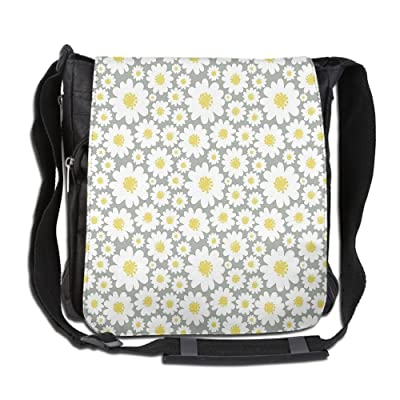 Lovebbag Cartoon Like Flowers Daisies Spring Time Season Pollens Artwork Print Crossbody Messenger Bag good