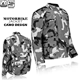 MBSmoto MJ20 Fast Motorcycle Motorbike Urban Touring Sports Textile Mens Jacket XL, CAMO