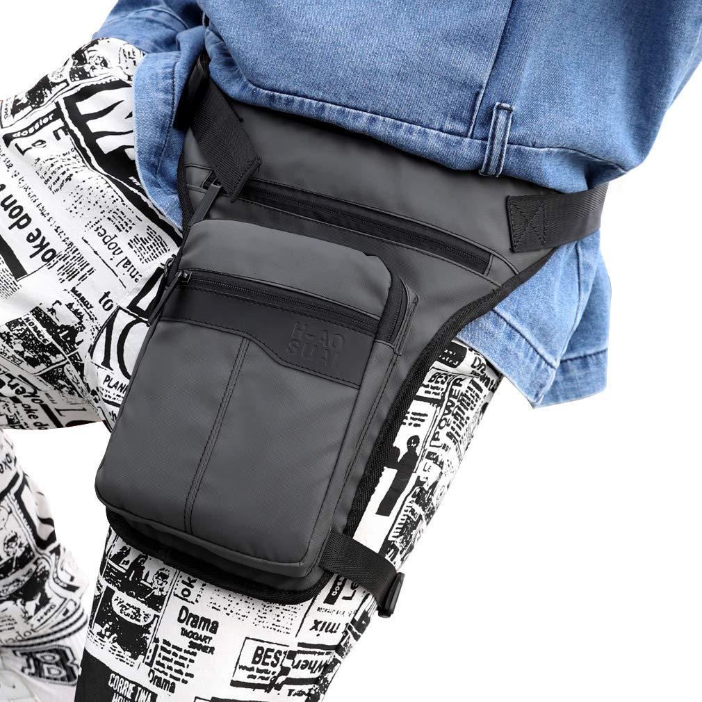 Nylon Thigh Drop Leg Bag para Hombres Ri/ñoneras Ri/ñonera Tactical Military Motorcycle Rider Multi-Pocket Hombres Viajes Senderismo Escalada Ciclismo al Aire Libre