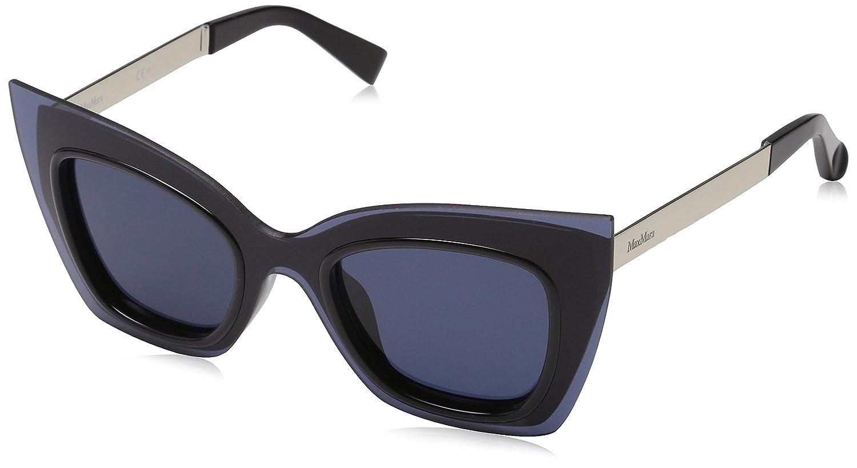 836b541b861 Amazon.com  Max Mara Women s Mm Overlap Square Sunglasses BLK BLUE 48 mm   Clothing