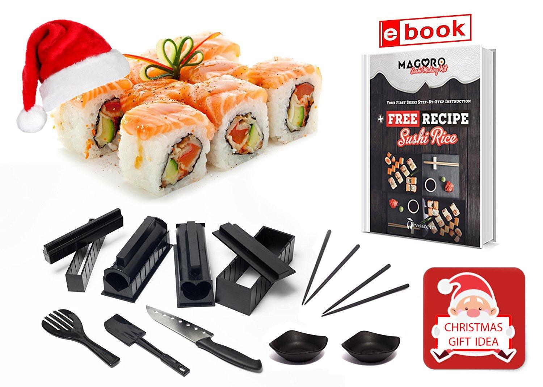 amazon com sushi making kit 15 piece diy sushi set with