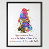 Dignovel Studios 8X10 Dumbledore Harry Potter Inspired Watercolor illustration Quote Art Print Wall Art Poster Home Decor Art N334
