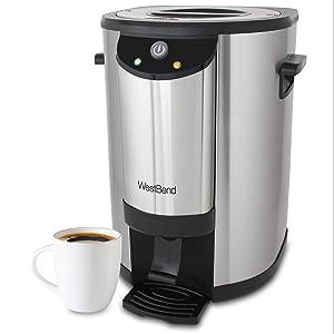WestBend 57042 Coffee 42-Cup Next Gen Urn, Silver