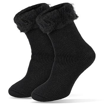 Mujer de Calcetines térmicos Invierno Medias extracálido 2.3 TOG, Negro, 36/41