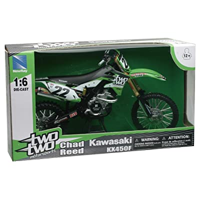 "New Ray 49493 ""Kawasaki/ Twotwo Motorsports - Chad Reed No. 22"" Modell Motocross: Toys & Games"