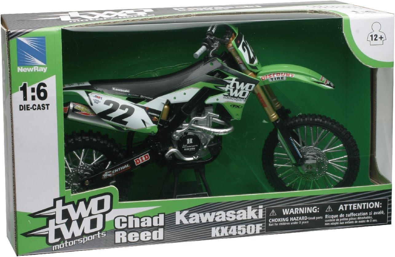 Kawasaki Chad Reed 22 Toy 1:12 Motocross NEW New Ray Model Motorbike Motorcycle
