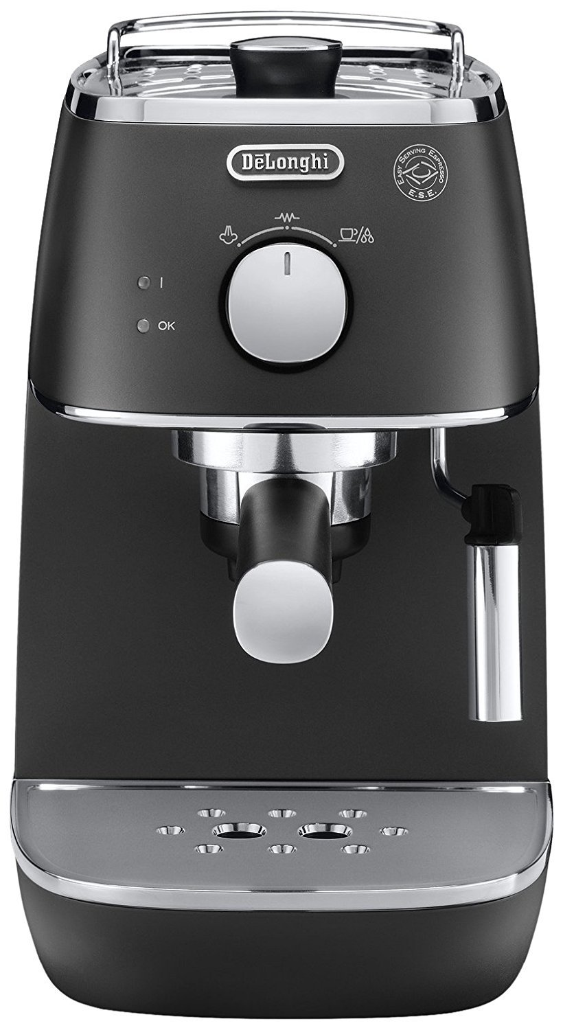 De'Longhi Distinta ECI341BK Traditional Pump Espresso Machine - Black [Energy Class A] (Certified Refurbished) De'Longhi