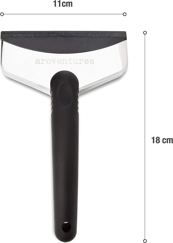 Premium Scheibenkratzer mit k/älteabweisendem Kunststoffgriff Edler Eisschaber mit verst/ärkter Front aus Edelstahl aroventures Auto Eiskratzer