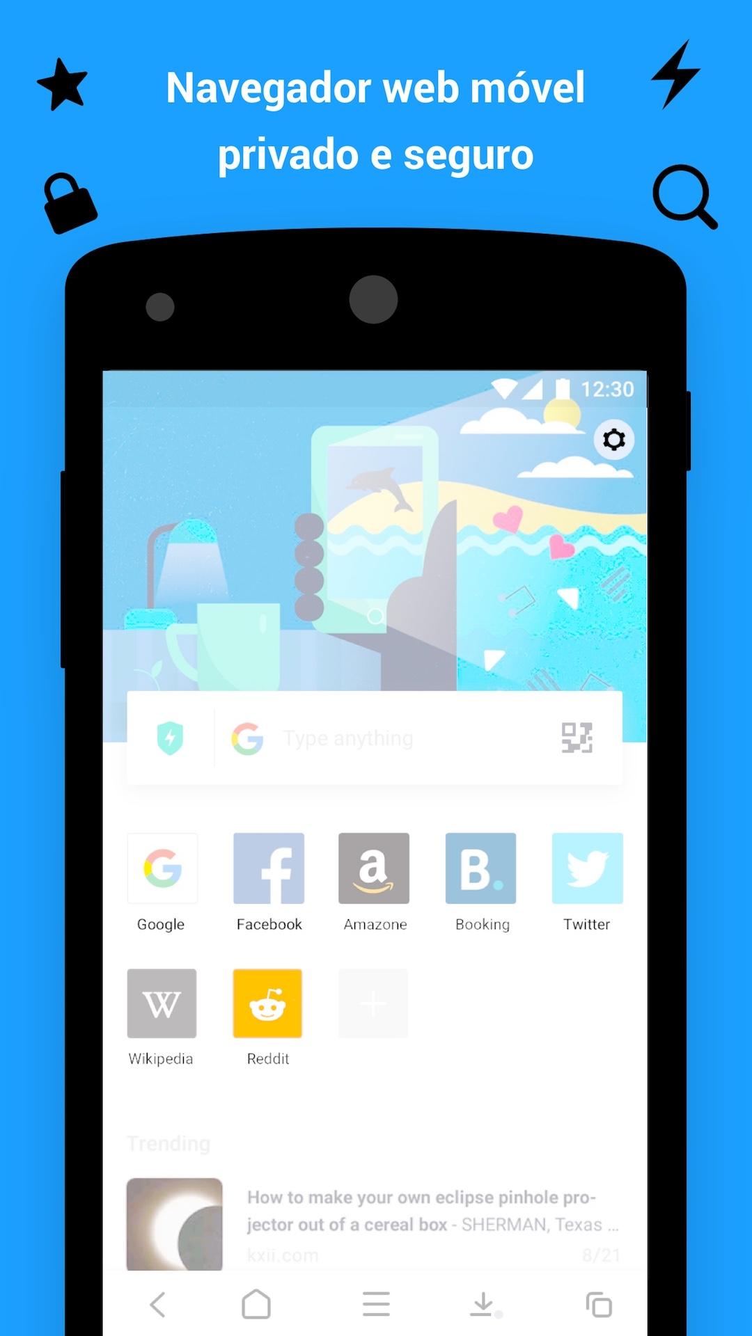 Aloha Browser - Navegador web privado e seguro com downloads