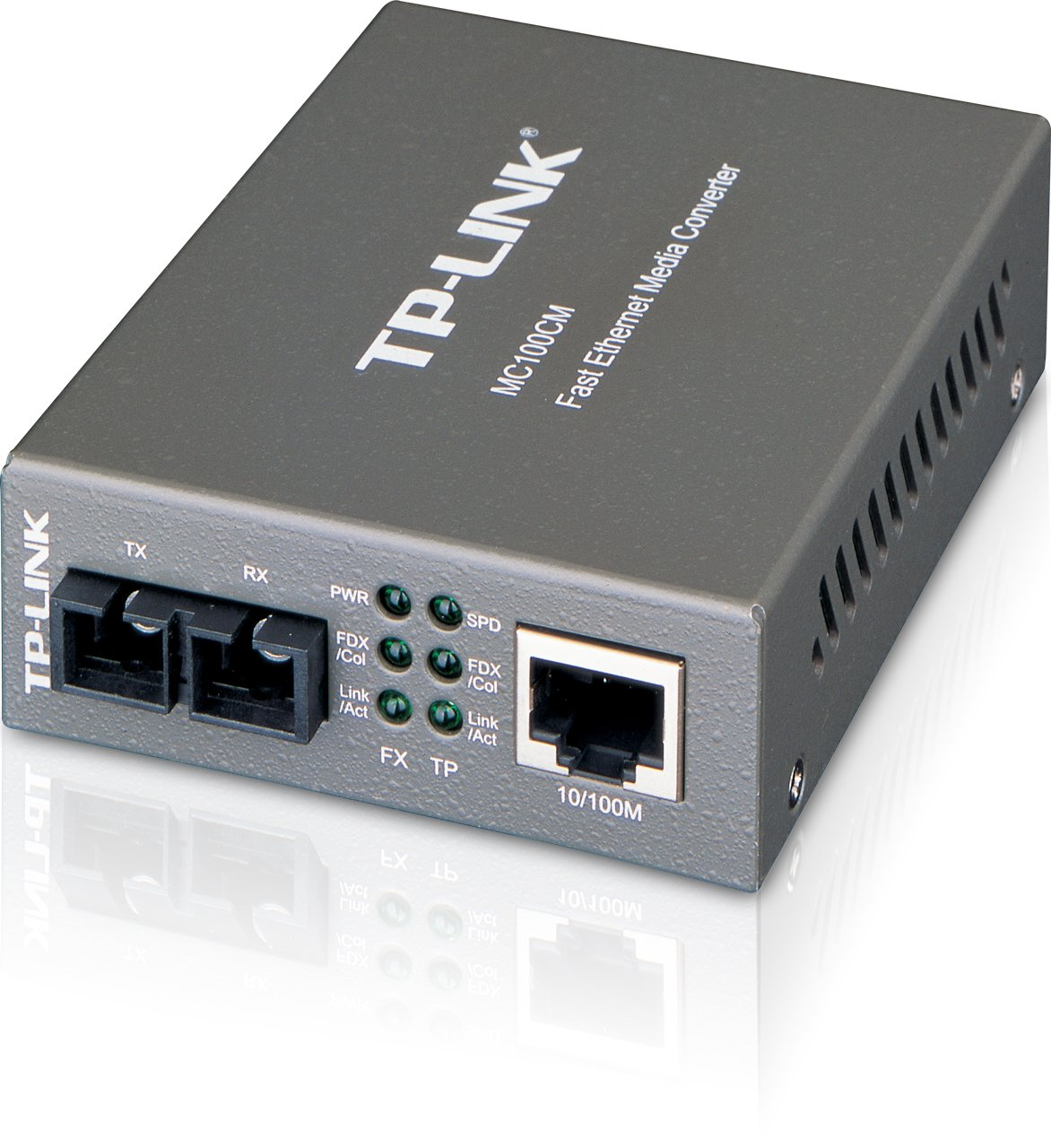 TP-Link Gigabit Ethernet Media Converter, 1000Mbps RJ45 to 1000M Multi-Mode  SC Fiber (MC200CM)