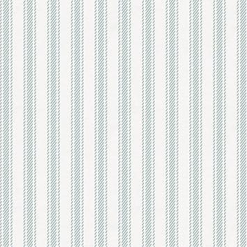 Amazoncom Carousel Designs Robins Egg Blue Ticking Stripe Fabric