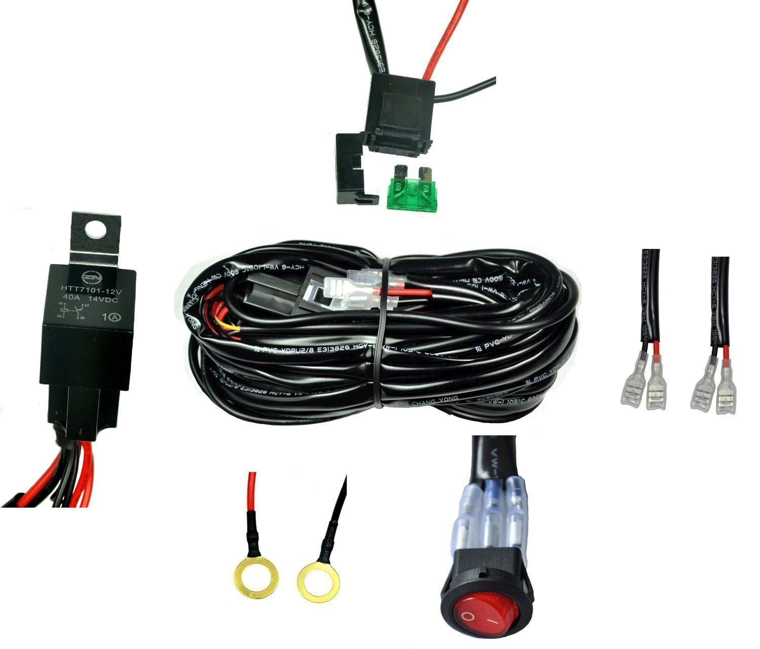 Cutequeen Wiring Harness Kit 40 Amp Relay On Off Switch Details About Led Hid Work Driving Light 12v 40a For Road Lights Atv Jeep Bar 2 Lead Automotive