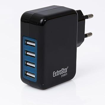 Extra Star 4 Puerto 4.1 A USB cargador base de carga para ...