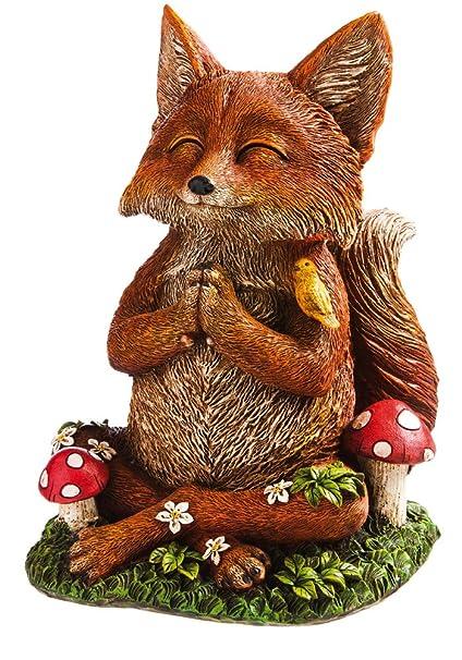 Attrayant New Creative Zen Fox Garden Statue