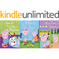 Storybook Collection: George's First Day at Playgroup, Nature Trail and Peppa Goes Camping