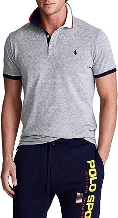 Polo Polo Ralph Lauren Logo Gris Hombre: Amazon.es: Ropa y accesorios