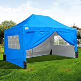 Quictent 3X4.5M Light Blue Pop Up Gazebo Party Tent Canopy Waterproof Marquee With Bag Leg Weight Bag Support Bar