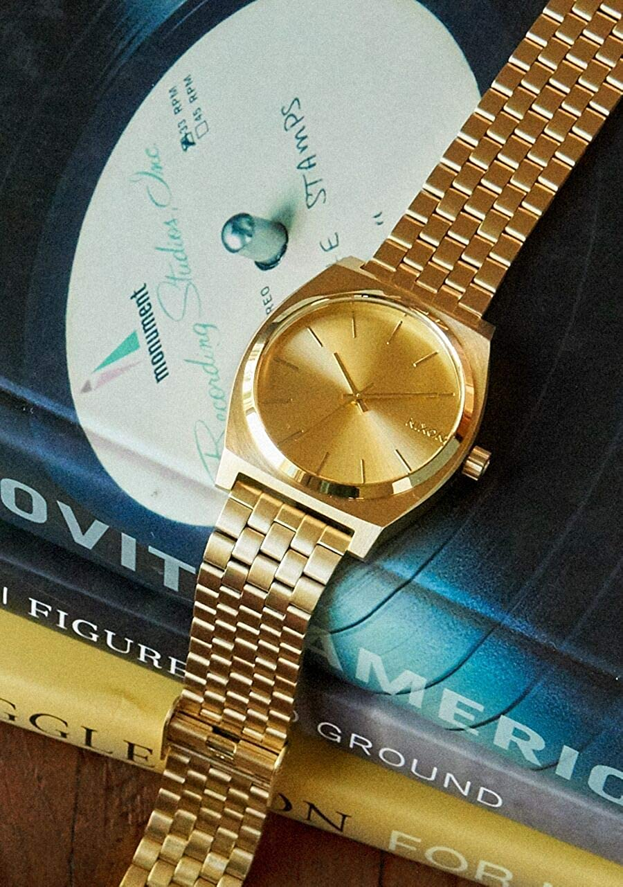 NIXON Time Teller A045 All Gold