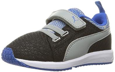 26e341b0be17b PUMA Boys' Carson Runner Night CAMO V INF Sneaker, Black/Limestone, 6