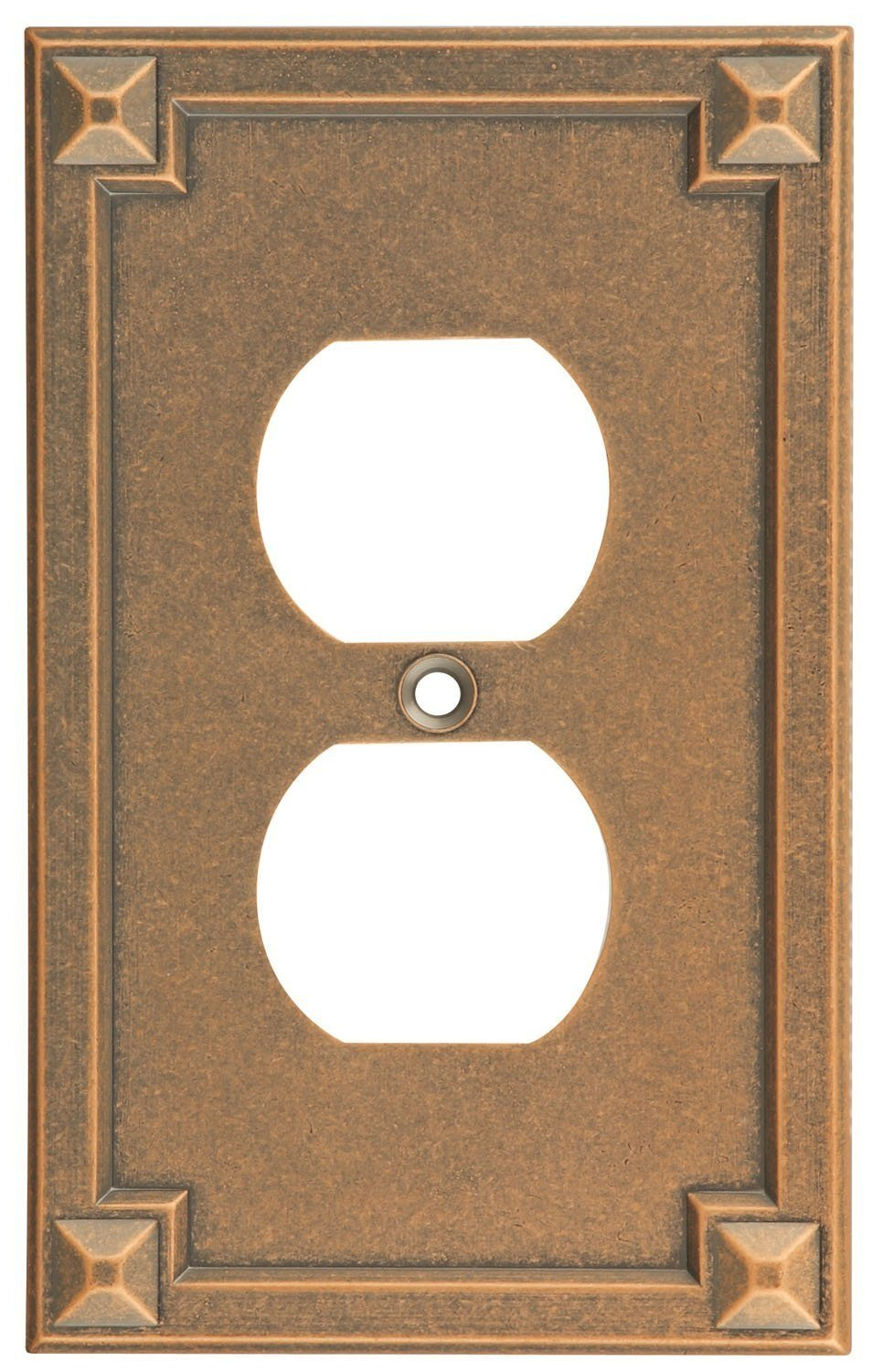Stanley (S803-882) Wall Plate, Distressed Antique Copper - Lot of 5