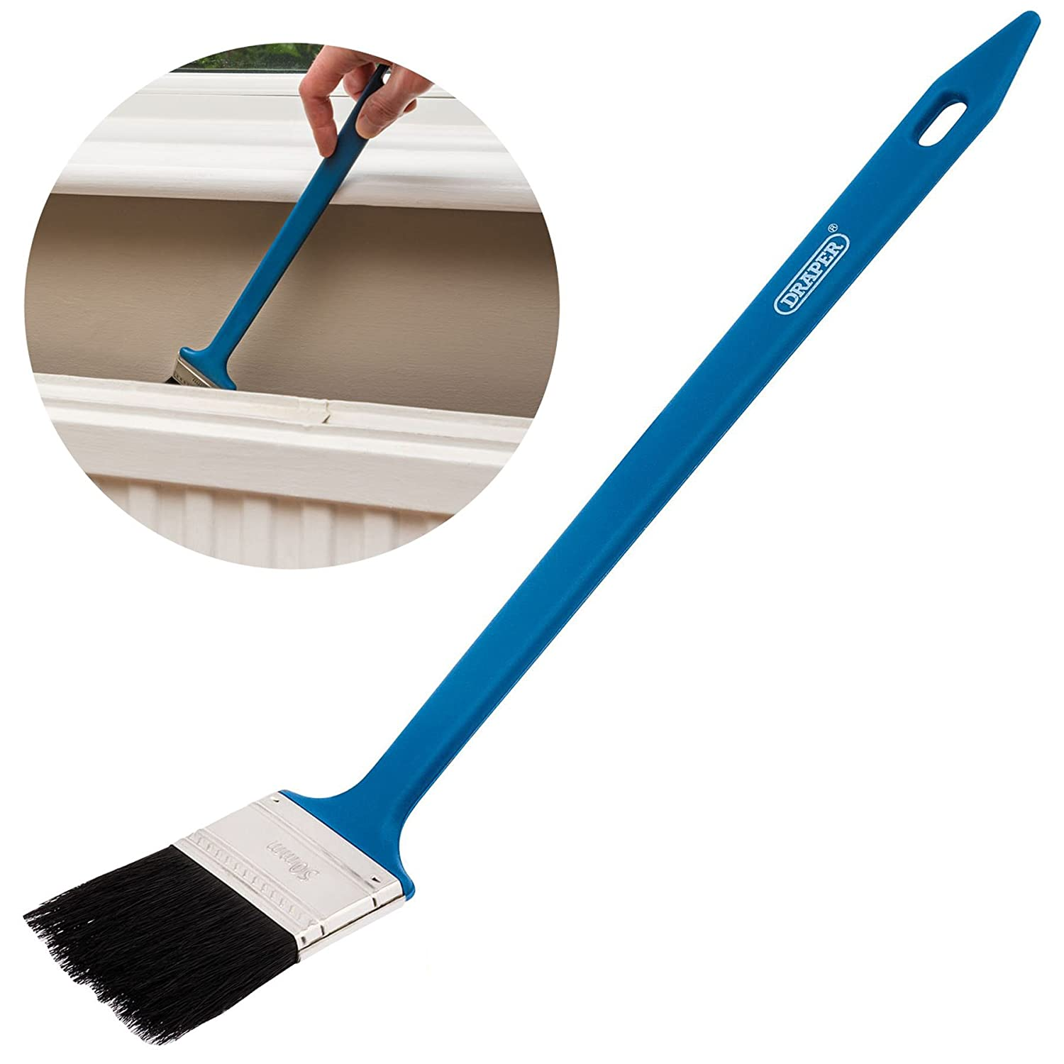 Long Angled Radiator Paint Brush | Suitable For Emulsion & Gloss Paint White Hinge