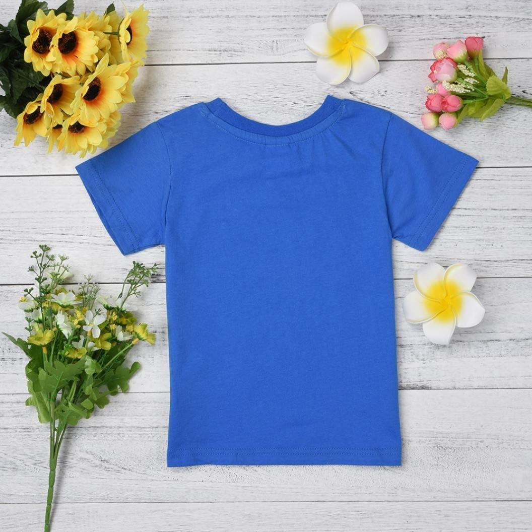 squarex Baby T-Shirt Kids Boys Girls Clothes Short Sleeve Cartoon Tops Blouse