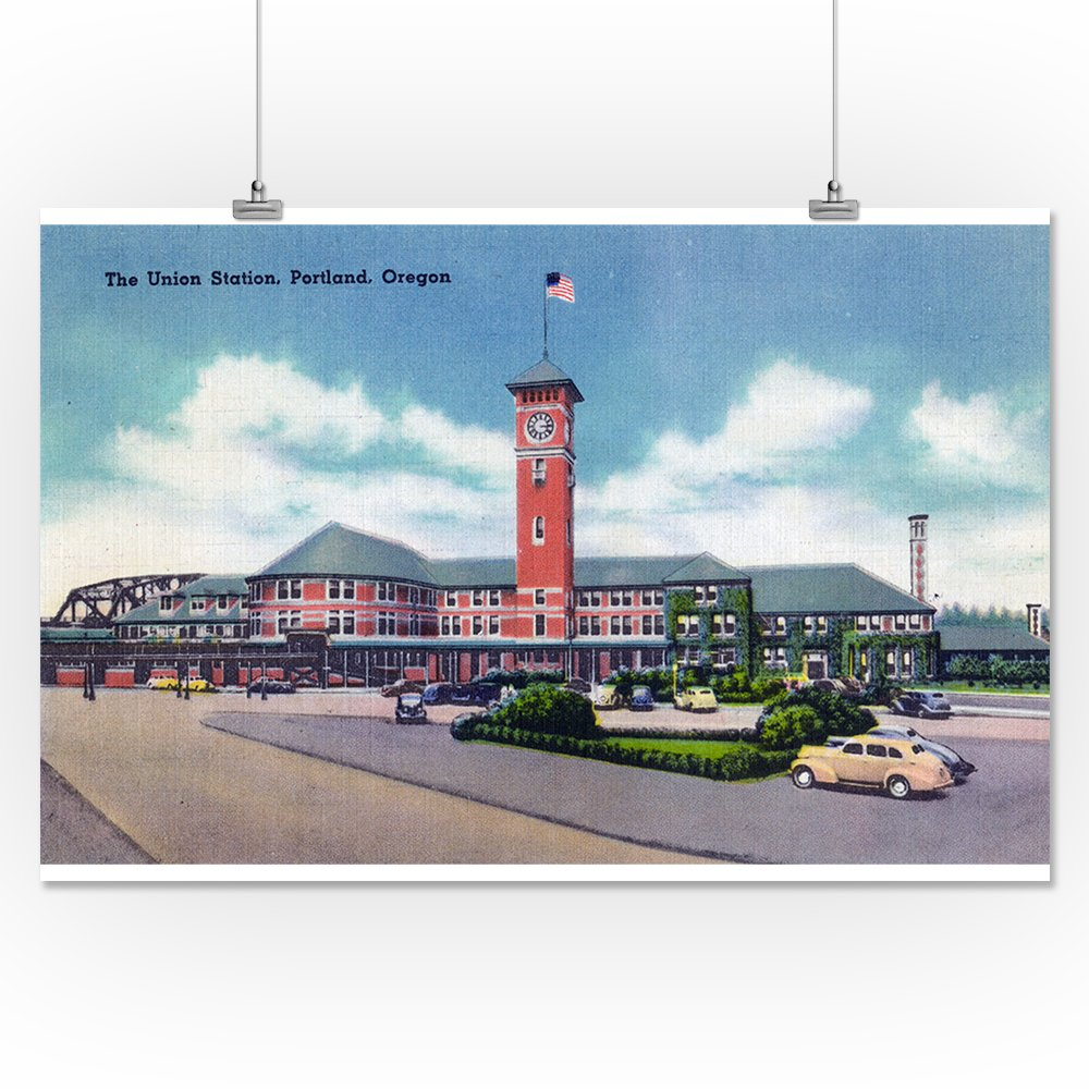 Amazon.com: Portland, Oregon - Exterior View of Union Station (16x24 SIGNED Print Master Giclee Print w/ Certificate of Authenticity - Wall Decor Travel ...